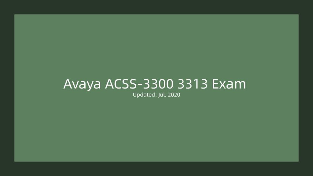 3313 Exam Dumps